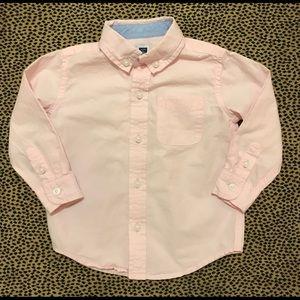 Janie + Jack Pink Button Down Shirt